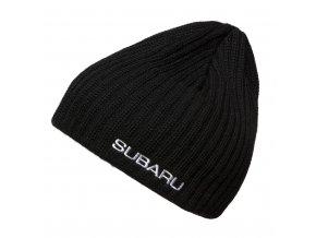 Pletená pánská čepice v černé barvě (Merino / Acryl)