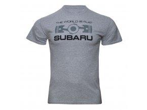 Tričko Subaru THE WORLD IS FLAT