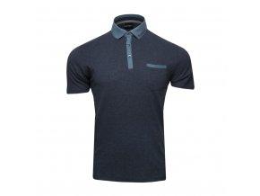 Polo tričko - melírované s džínovými detaily
